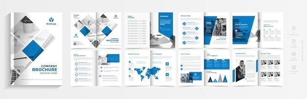 Брошюра о корпоративном бизнесе или шаблон профиля компании