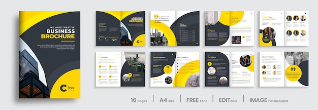 Corporate business brochure template design, multipage brochure layout