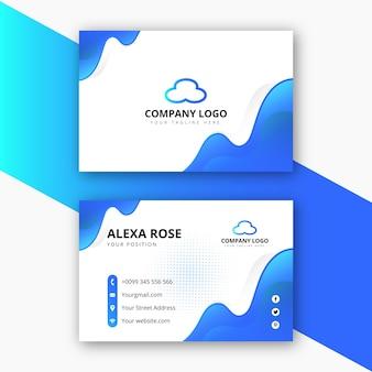 Дизайн корпоративной визитки и личной визитной карточки с абстрактной формой