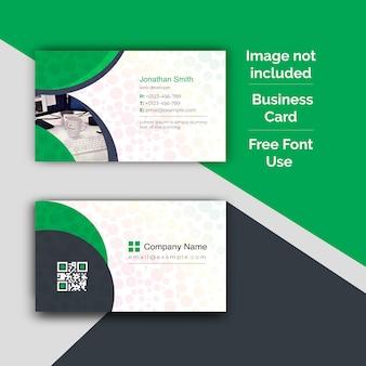 Дизайн корпоративной визитки и шаблон фотографии визитной карточки