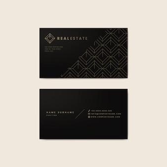 Шаблон дизайна корпоративной визитки