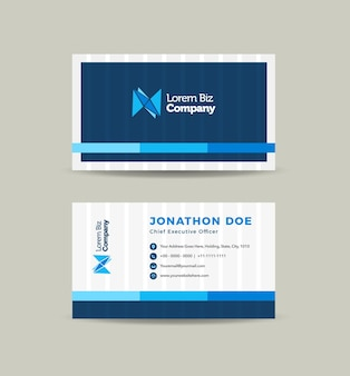 Corporate business card design or visiting card and personal business card