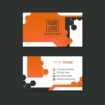Corporate business card design with double-sides for advertising