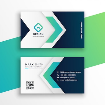 Corporate business card layout template