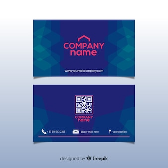 Corporate business card template, front and back design