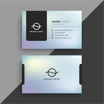 Корпоративная визитная карточка с градиентом светло-зеленого абстрактного бесплатные векторы
