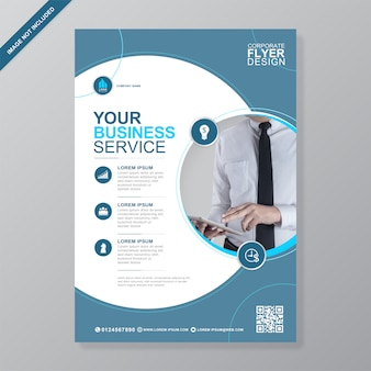Corporate business cover a4 flyer design template