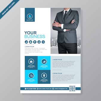 Corporate business cover a4 flyer  template
