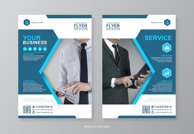 Обложка корпоративного бизнеса и задняя страница дизайнера флаера формата а4