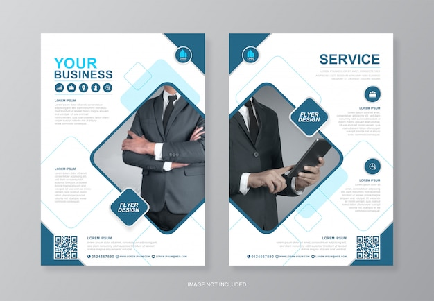 Corporate business cover and back page a4 flyer design template