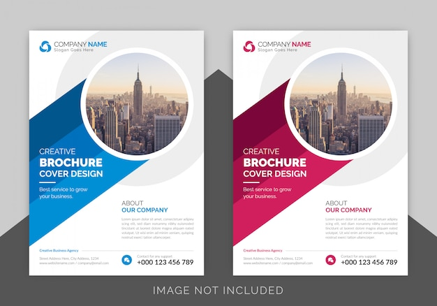 Corporate business cover page design template Premium Vector