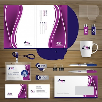 Corporate business design folder template identity