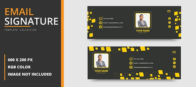 企業のビジネス用メール署名テンプレートまたはメールフッターと個人用facebookカバープレミアム