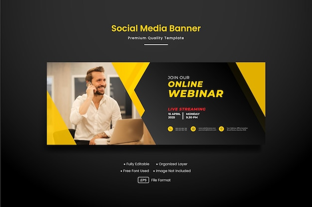 Corporate business facebook cover or banner post template