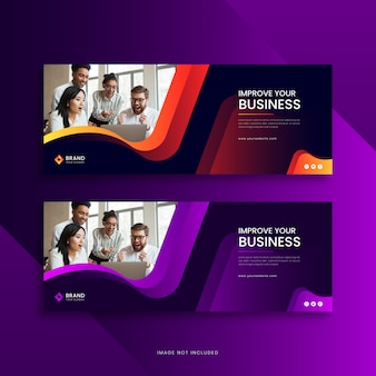 Corporate business facebook cover banner template