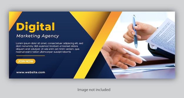 Corporate business facebook cover or banner