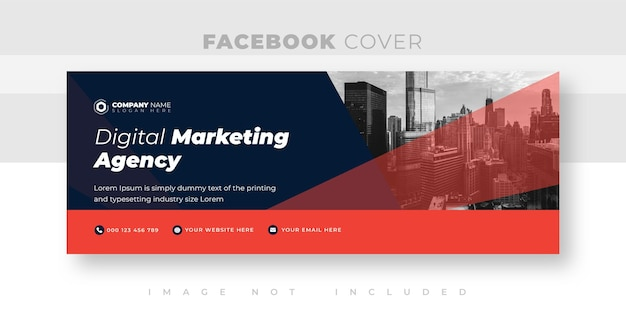 Corporate and business facebook cover photo design or web banner design