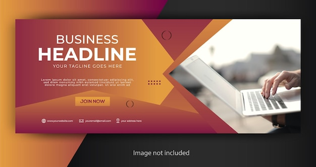 Corporate business facebook cover template Premium Vector