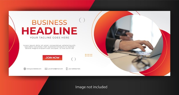 Corporate business facebook cover template