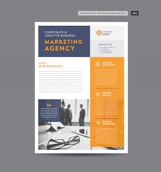 기업 비즈니스 전단지 디자인 | 유인물 및 전단지 디자인 | 마케팅 시트 디자인