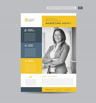 企業ビジネスチラシデザイン|配布資料とリーフレットのデザイン|マーケティングシートデザイン