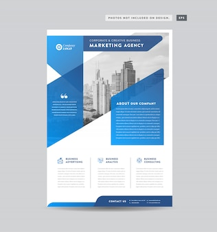 Corporate business flyer design | handout and leaflet design | marketing sheet design