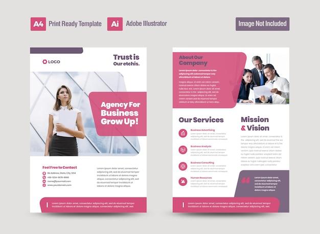 Corporate business flyer design or handout and leaflet design or marketing