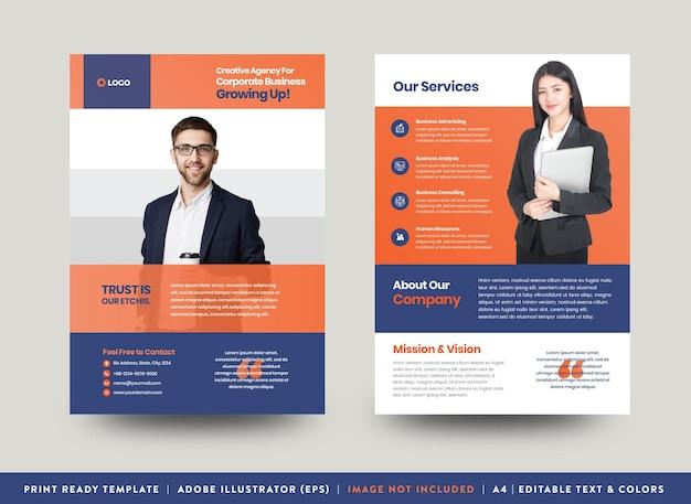 Corporate business flyer design or handout