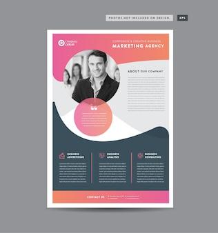 Дизайн флаера для корпоративного бизнеса или дизайн раздаточного материала и листовки, или маркетинговый лист дизайн брошюры