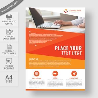 Шаблон дизайна корпоративного бизнес-листа в формате a4