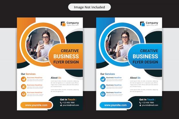 Корпоративный бизнес флаер или шаблон дизайна листовки Premium векторы