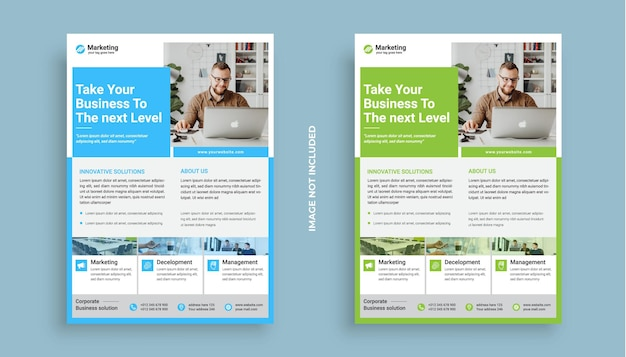Corporate business flyer poster brochure cover design layout background two colors vactor