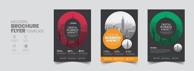 Corporate business flyer poster pamphlet brochure cover design