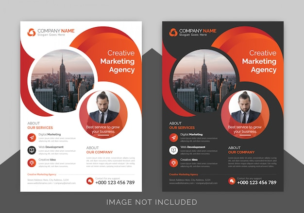 Corporate business flyer poster template with gradient color, brochure cover design layout background