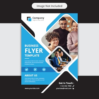 Корпоративный бизнес флаер templat design