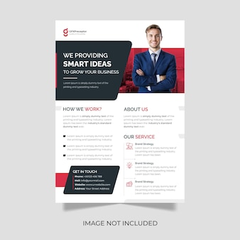 Corporate business flyer template in a4 size