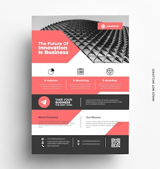 Corporate business flyer template brochure with photo