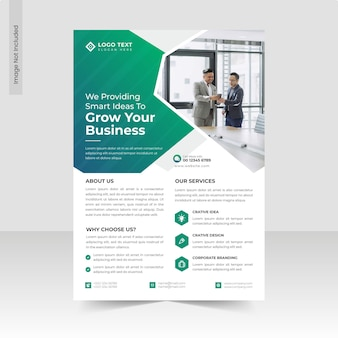 Corporate business flyer template design or a4 brochure flyer template