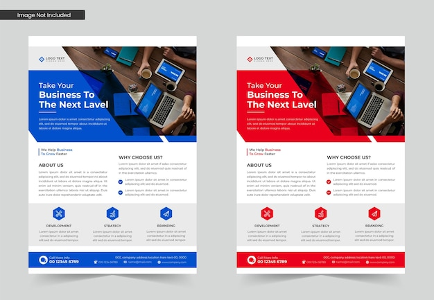 Corporate business flyer template design set or a4 flyer template