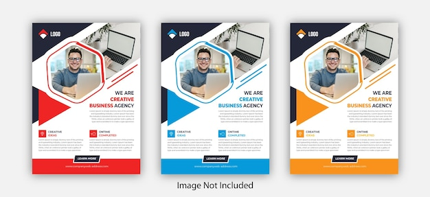 Corporate business flyer template design