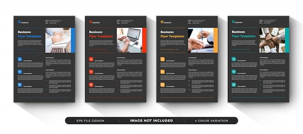Corporate business flyer template set