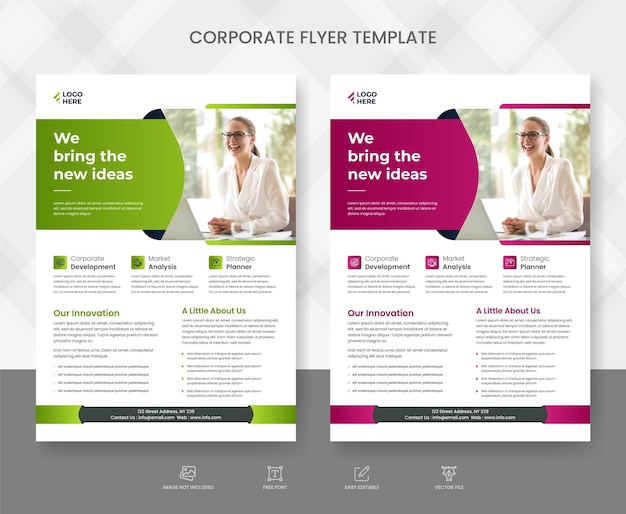 Corporate business flyer template vector design flyer poster and leaflets layout