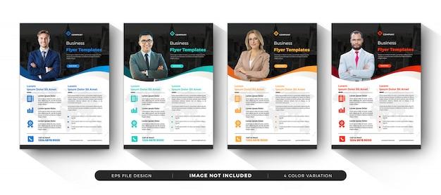 Corporate business flyer templates design