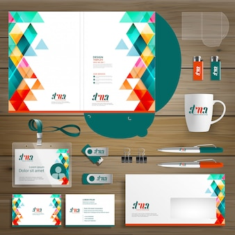 Corporate business folder technology stationery company, presentation