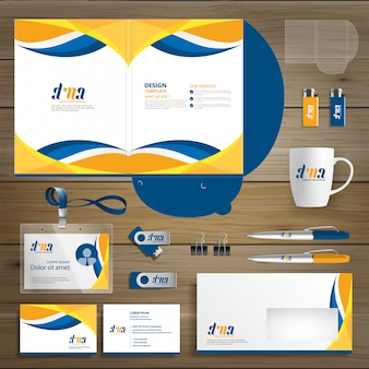 Corporate business folder technology stationery company