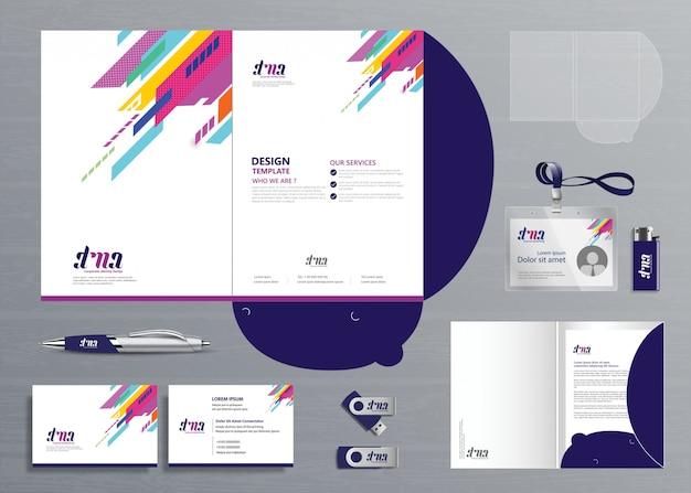 Corporate business folder technology stationery company