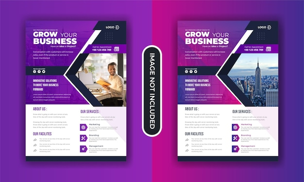 Corporate business grow flyer template