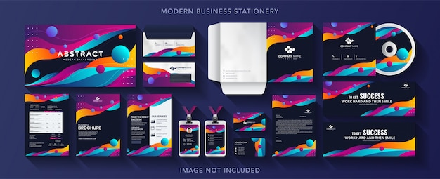 Corporate business identity design vector stationery