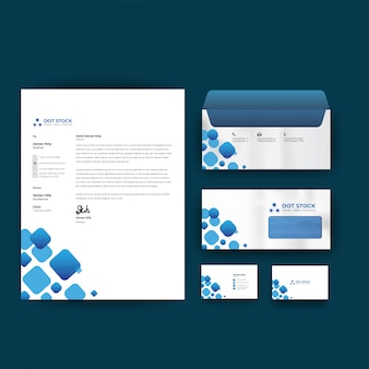 Corporate business identity design vector template stationery