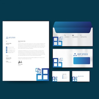 Corporate business identity stationery template